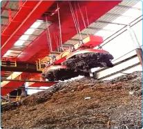 MW61系列废钢起重电磁铁使用现场(带视频)